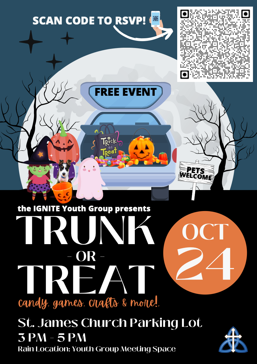 image of children in halloween costumes standing in front of truck with candy,