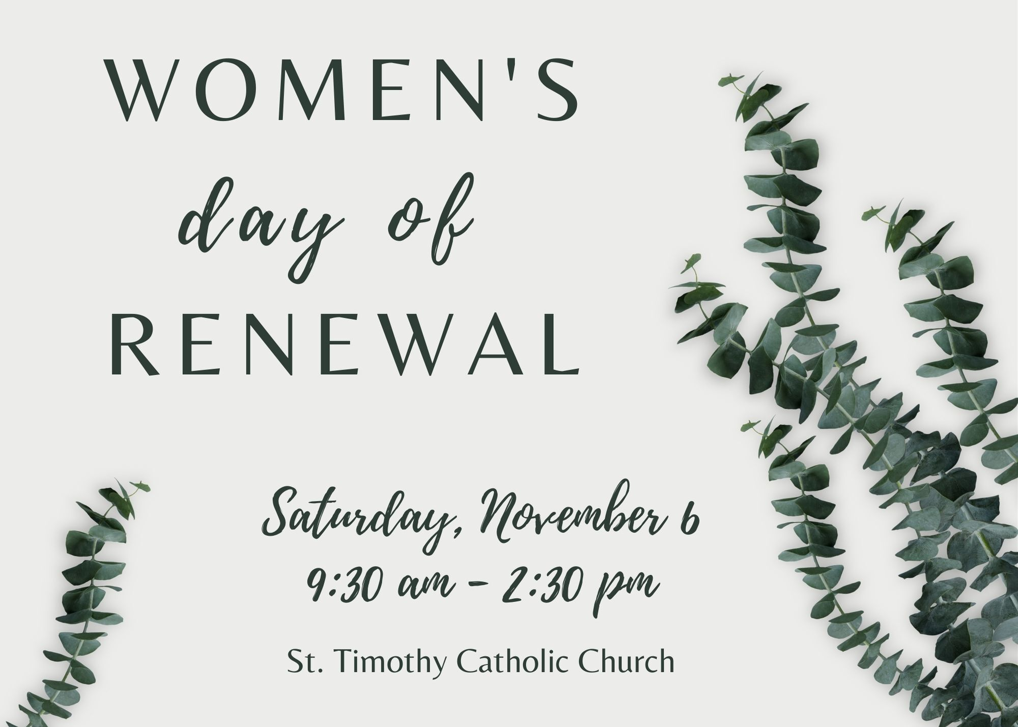 Women's day of RENEWAL