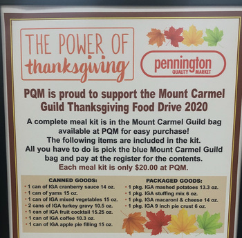 POWER OF A Thank You... <br />  <div>   Thanksgiving Food Drive at Pennington Quality Market  </div>