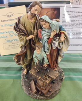 JOURNEYING HOLY FAMILY STATUE FOR VOCATIONS