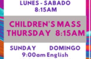 Children's mass in English
