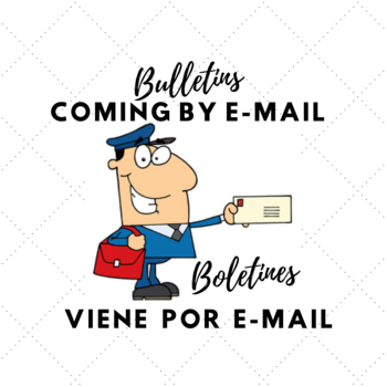 Bulletins arrive by email