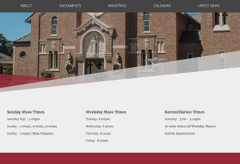 Parish Website Coming Soon
