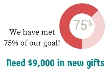 We are at 75% of our goal