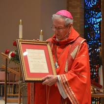 Retiring Bishop of Lubbock Presented Sowder Award for Advancement of Justice and Peace