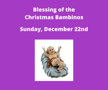 Blessing of the Christmas Bambino