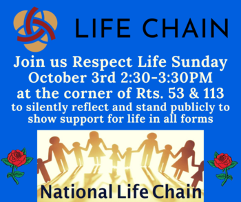 National Life Chain/Respect Life Sunday