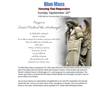 First Responders to be honored on September 26th!