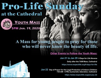 Pro-Life Youth Mass at St. Mary's Cathedral