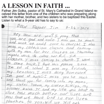 A Lesson in Faith