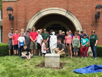Local Scout Leads Service Project at Spiritan Center
