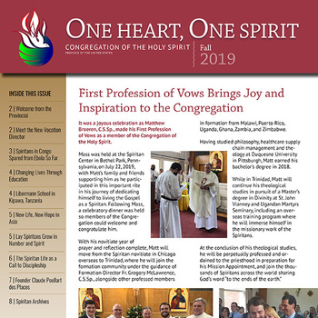 It's Here! The One, Heart One Spirit Newsletter - Fall Issue