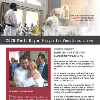 May 3 is World Day of Prayer for Vocations