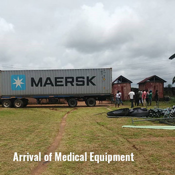Arrival of medical equipment