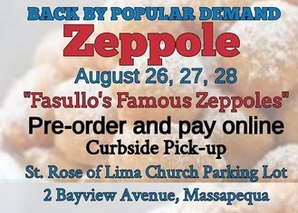 Don't miss out to get your zeppole!