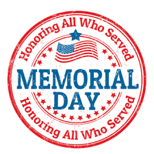 Memorial Day- School Closed