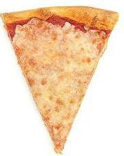 Hot Lunch: Pizza - 1 slice = $3.00 & 2 slices = $5.00