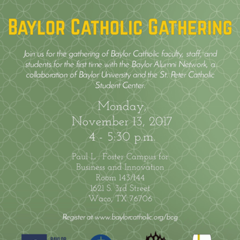 Baylor Catholic Gathering