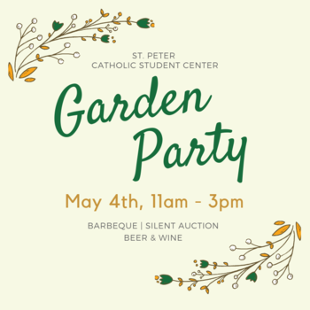 Garden Party This Saturday May 4!