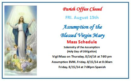 Assumption BVM (office closed)