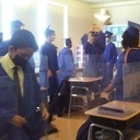 8th Graders Dress Up Early in their Caps/Gowns for their Long-Awaited Graduation Photos!