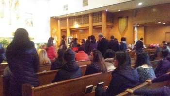 8th Graders Commit to Confirmation Preparation at the Rite of Enrollment