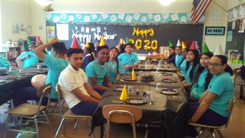 8th Graders Enjoy a New Years Party to Celebrate the Official Start to their 2020 Graduation Year!