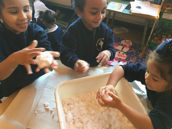 Pre-K makes snow!