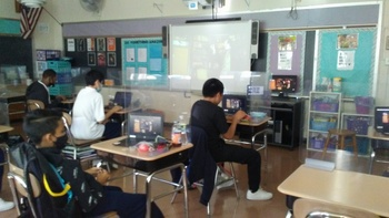 Chamber Theatre Brought Live-Action, Filmed Plays of Poe's Work to 8th Grade!