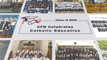 8th Grade Featured on the Catholic Faith Network before the Baccalaureate Mass!