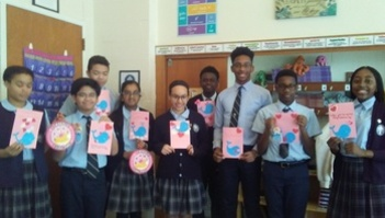 """CSW2020: Whale You Be My Hero? 8th Grade Creates """"Valentines for Veterans"""""""