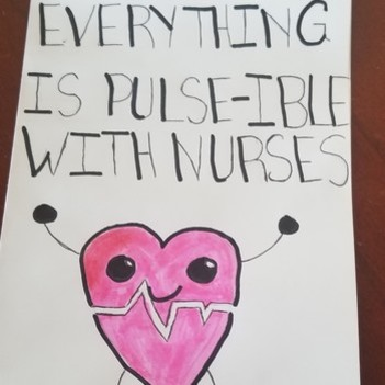 "8th Grade Writes Punny ""Thank You"" Notes to Mrs. Baxter for School Nurse Day"