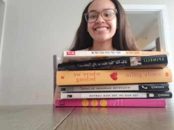 "National Poetry Month: 8th Grade Rethinks Sentence Structure to Create ""Book Spine Poetry"""