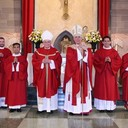Bishop Checchio ordains four men to transitional diaconate