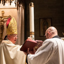 Bishop presides at Easter Vigil at Cathedral of St. Francis of Assissi