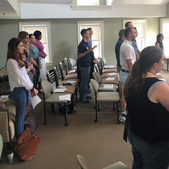 Young adults gather at retreat for presentations, discussion, Mass