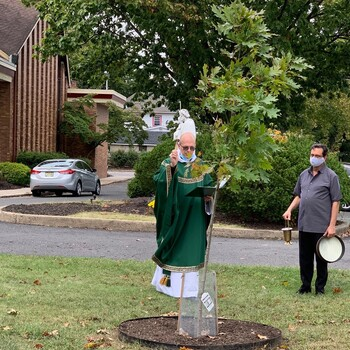 Outdoor Mass celebrated in thanksgiving for God's gift of nature