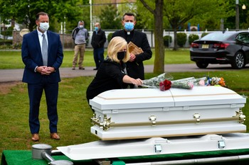 Bishop organizes burial for two abandoned, deceased infants