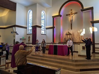 Elect hear call to sacramental life in Church at respective parishes