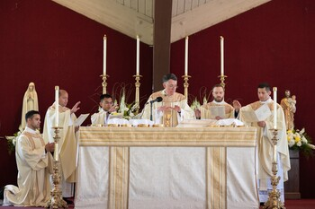 Bishop encourages diocese's new priests to emulate St. Joseph