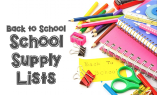 Supply Lists for the 2019-2020 School Year!