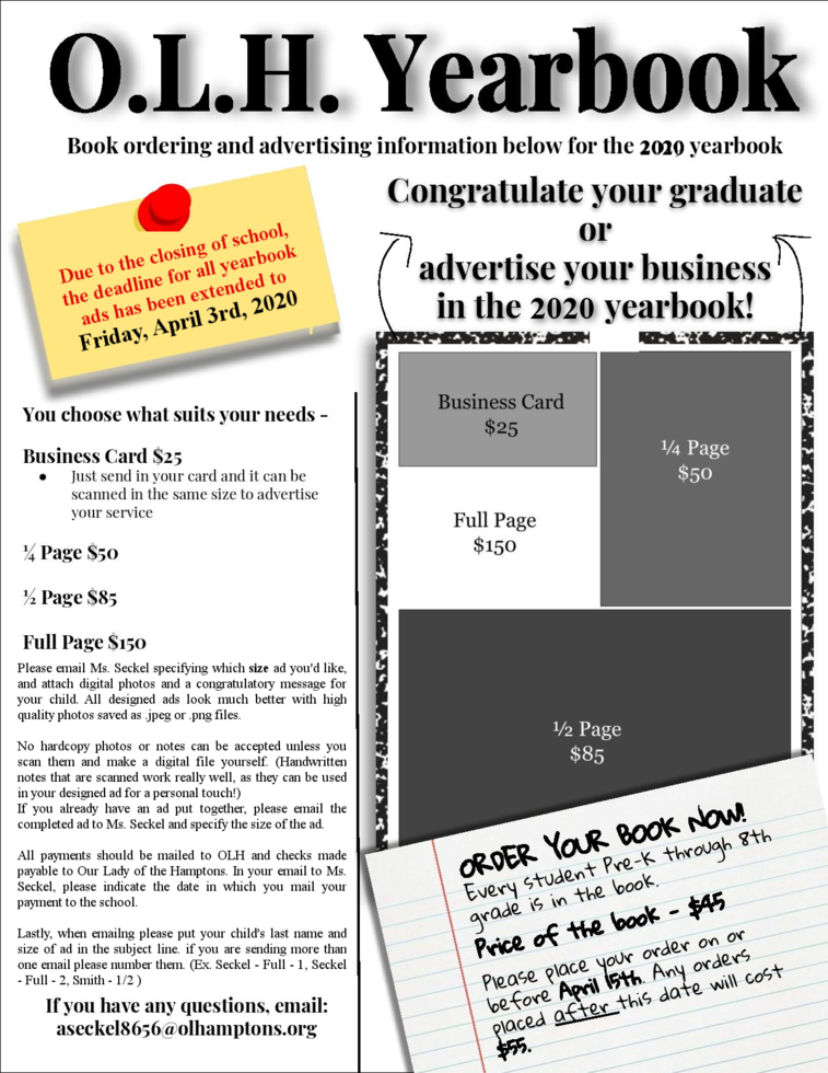 yearbook ad info