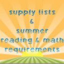 Supply Lists & Summer Requirements