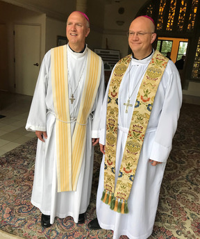 Bishop Weisenburger with Bishop Vincke
