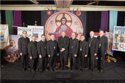 Photo by John Valencia, the Catholic Sun All of the bishops from Region XIII that attended the V Encuentro Regional meeting in Phoenix.