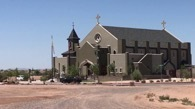 The new church. The parish is 95 miles from Tucson.