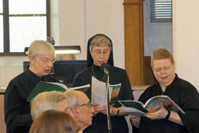 Benedictine Sisters provided some of the music for the Monastery's closing Mass.