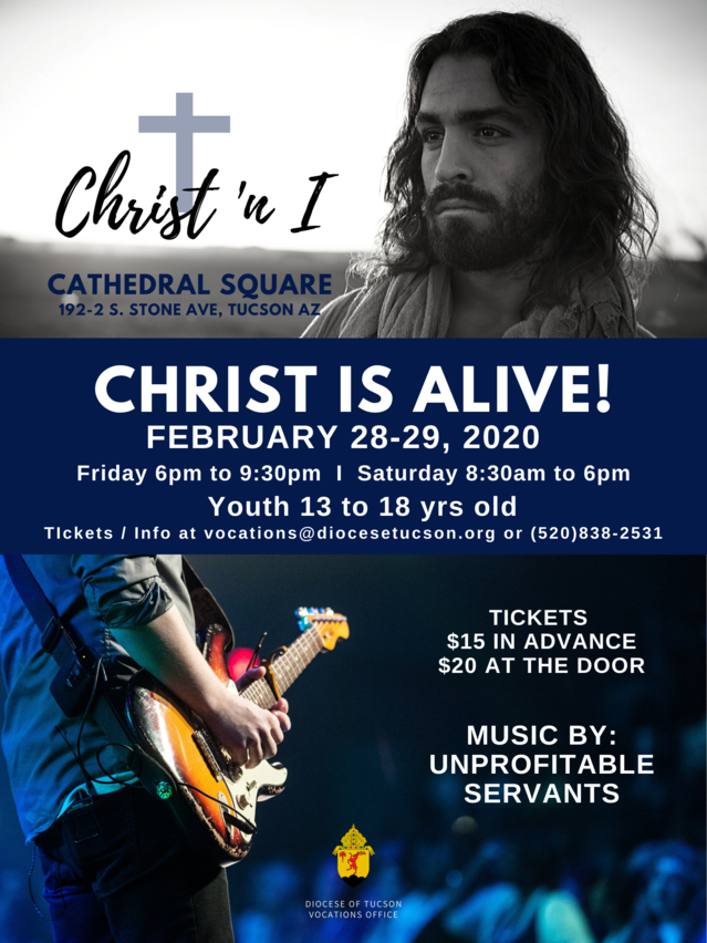 Flyer for Christ is Alive