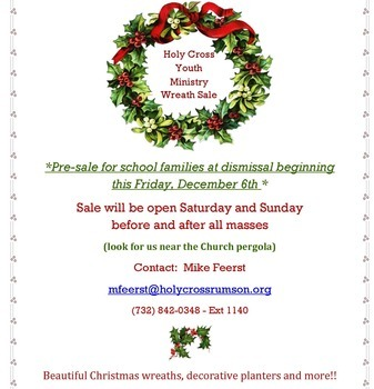 Youth Ministry Wreath Sale