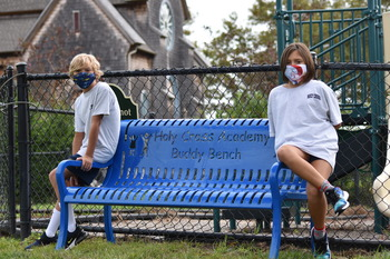 Monmouth Journal - Holy Cross Unveils the 'Buddy Bench'